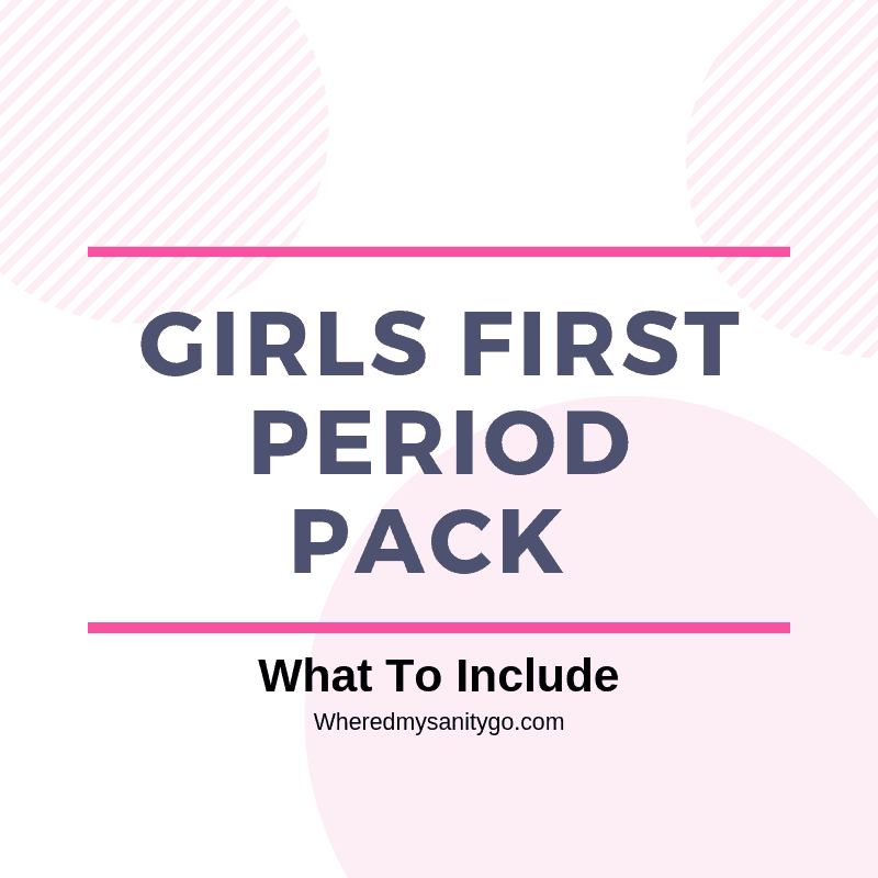 Girls First Period Pack
