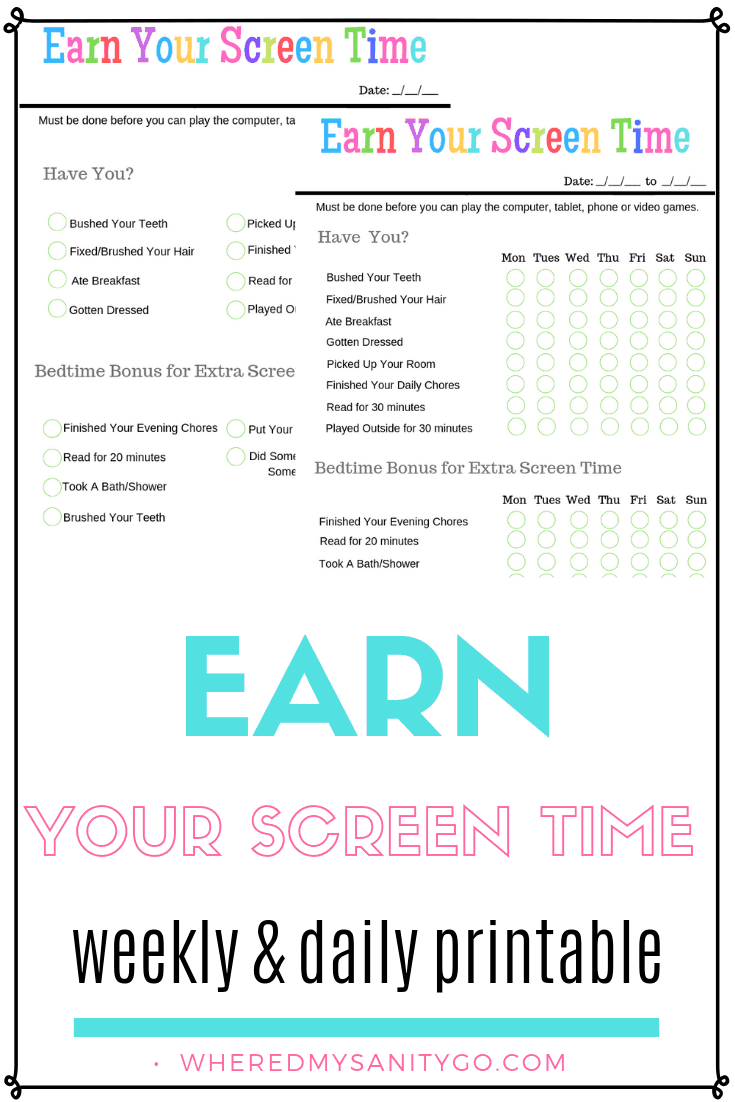 earn your screen time