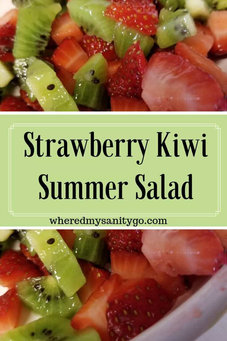 Strawberry Kiwi Salad Summer