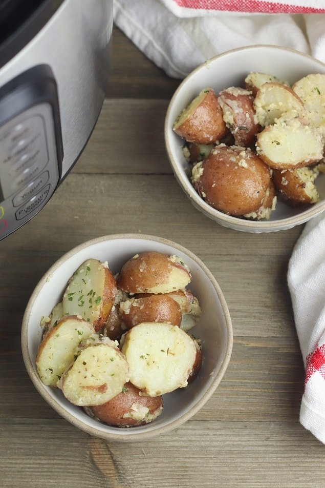 Instant Pot Red Potatoes with Garlic and Parmesan Recipe
