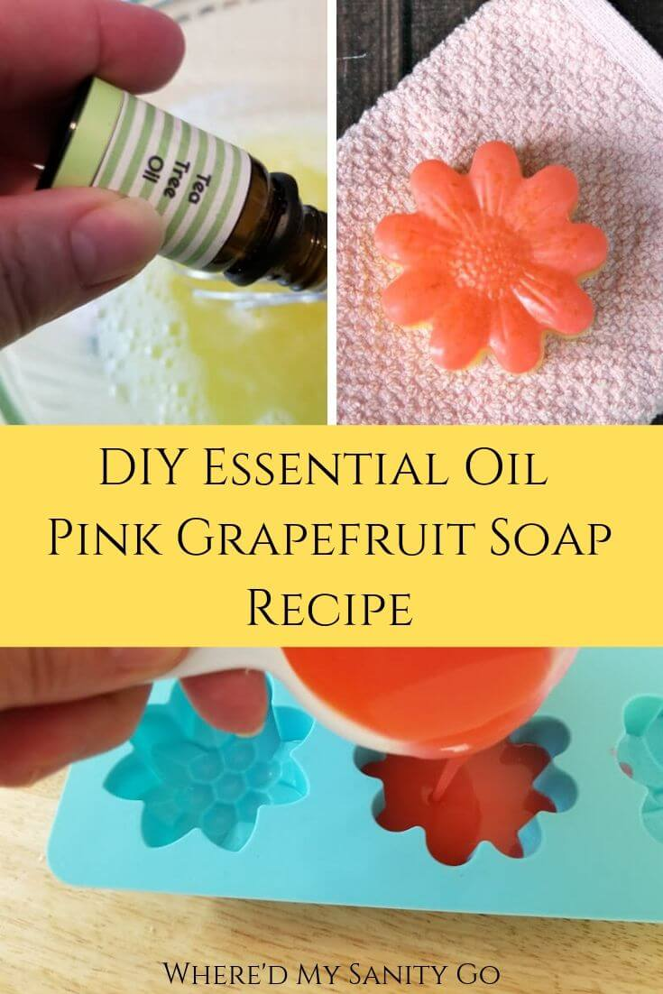 DIY Essential Oil Pink Grapefruit Soap Recipe