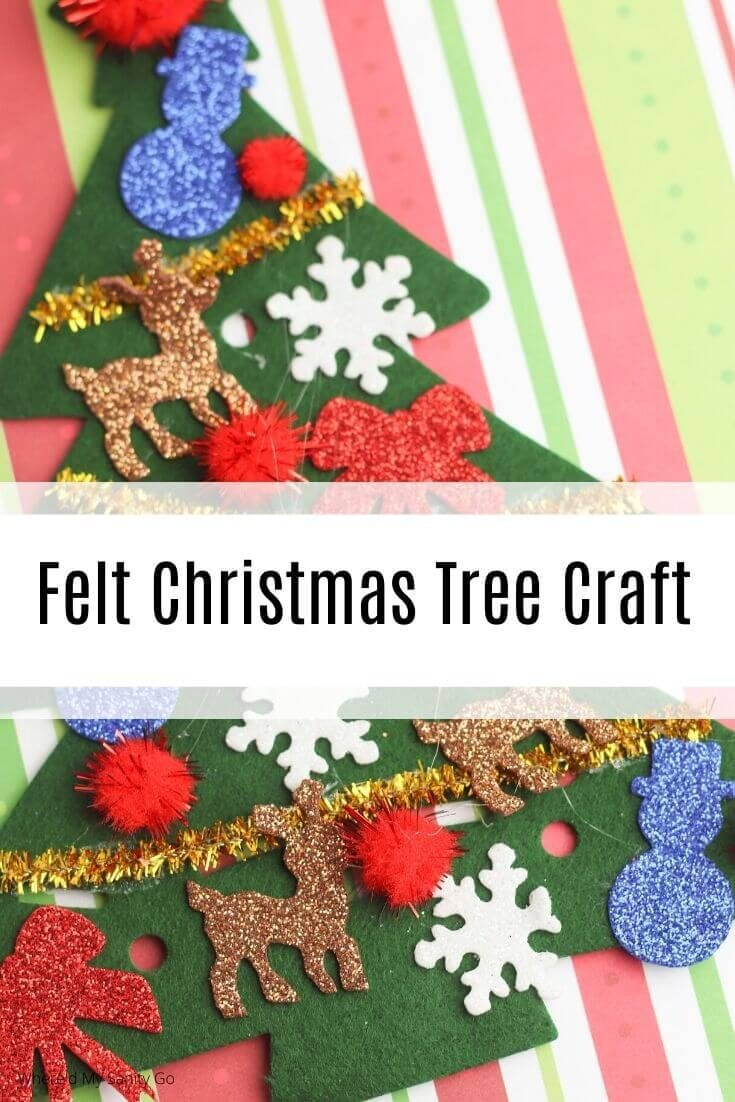 DIY Felt Christmas Tree Craft for Toddlers