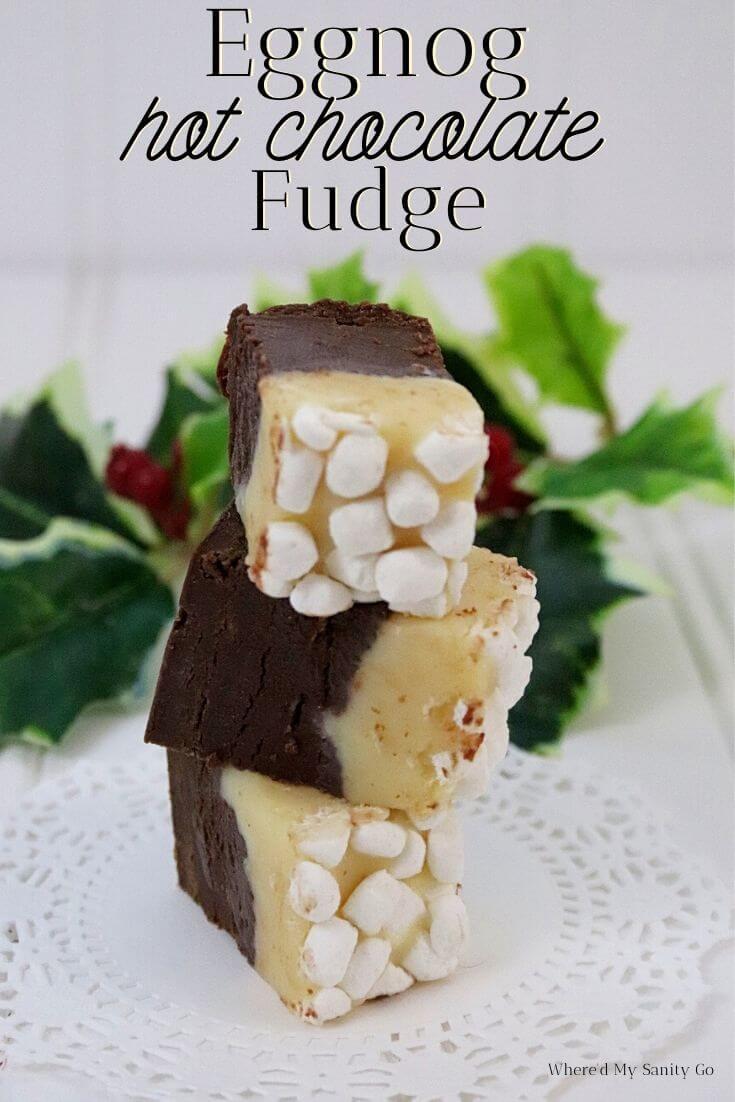 Eggnog Hot Chocolate Fudge Recipe.