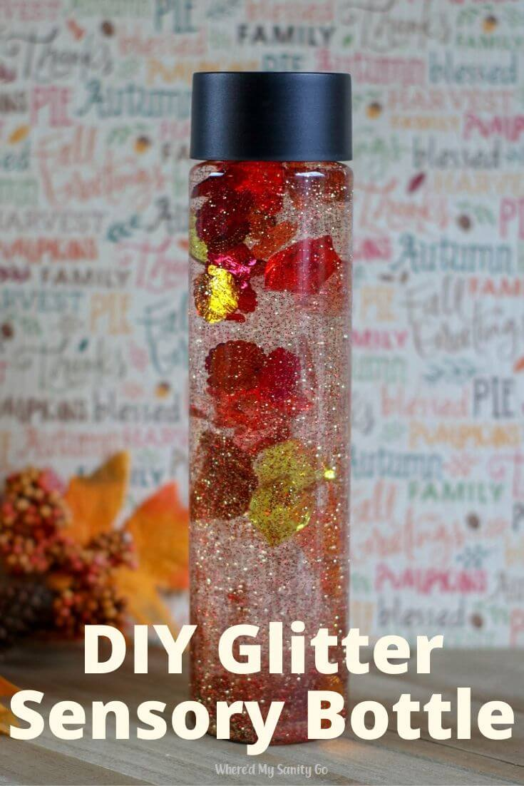 DIY Glitter Sensory Bottle and Calm Down Bottle