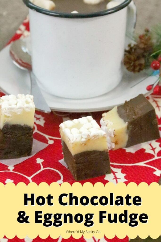 Eggnog Hot Chocolate Fudge Recipe with Marshmallows