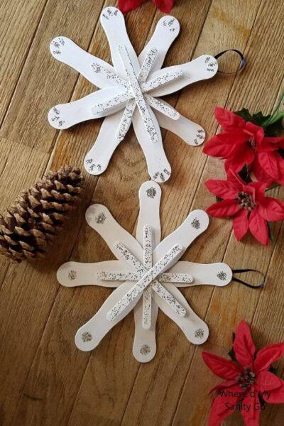 Snowflake Christmas Ornament Craft for Kids