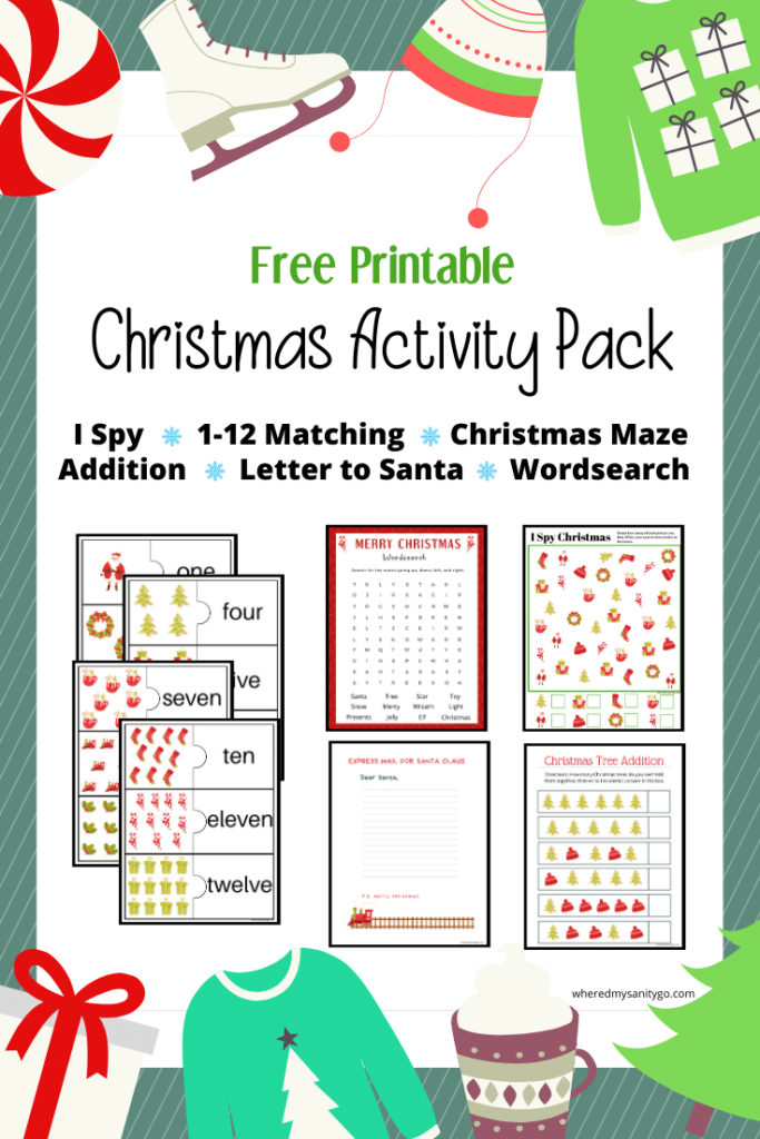 Free Christmas Activity Pack Printable