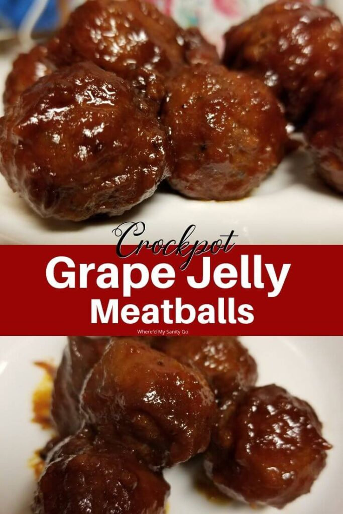 Meatballs with Grape Jelly and Chili Sauce For Game Day or Holidays Crockpot Recipe