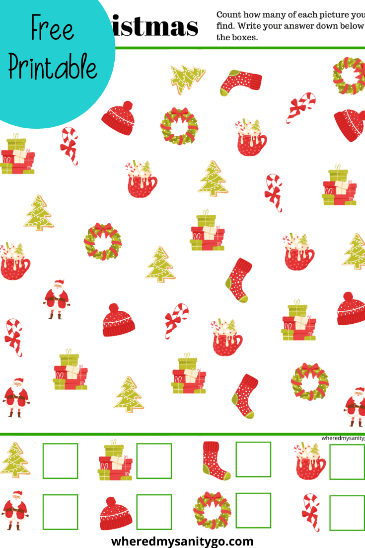 Free Printable Christmas I Spy Activity