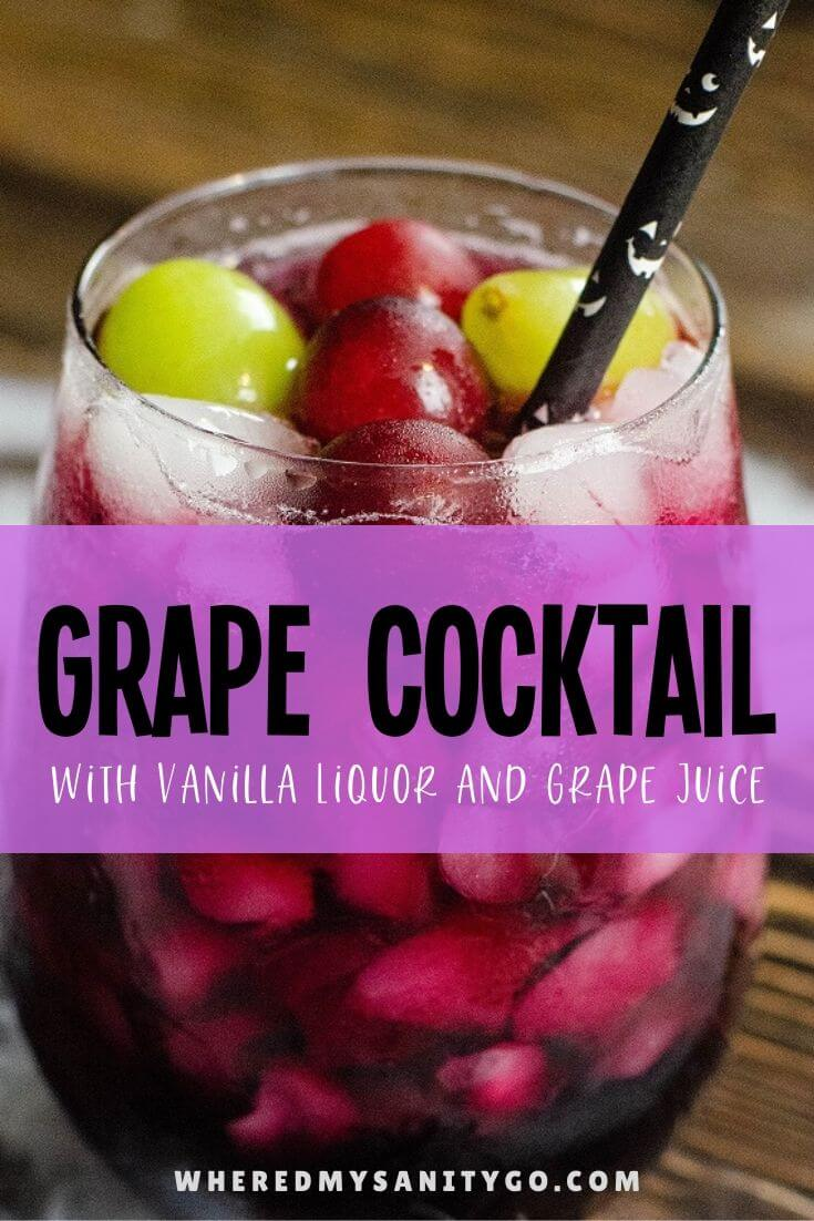 Grape Cocktail Recipe with Vanilla Liquor and Grape Juice