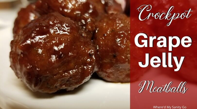 Crockpot Meatballs with Grape Jelly and Chili Sauce For Game Day or Holidays