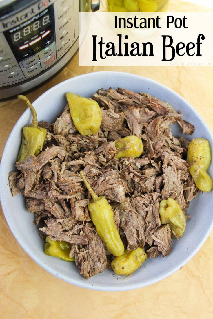 Instant Pot Italian Beef Sandwiches with Pepperoncinis Quick Easy Pressure Cooking