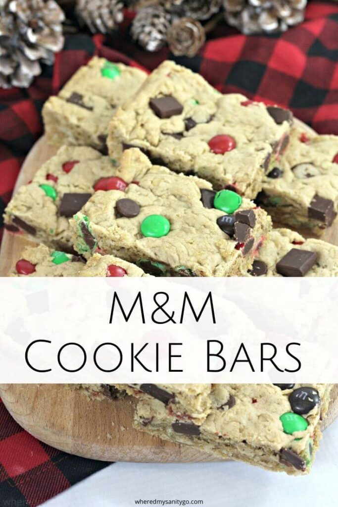 Monster Bars M&M Cookie Bars with Oatmeal and Chocolate Chips