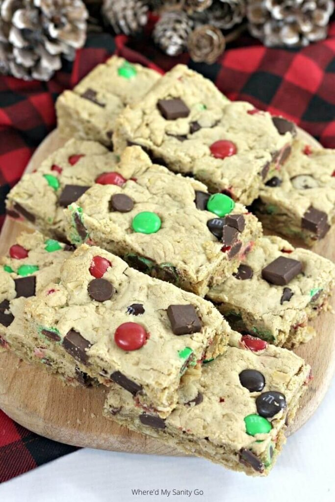 M&M Cookie Bars with Oatmeal