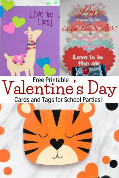 Free Printable Valentines Day cards and tags