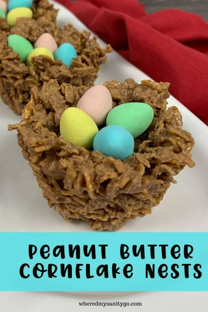 Peanut Butter Cornflake Nest Cookies