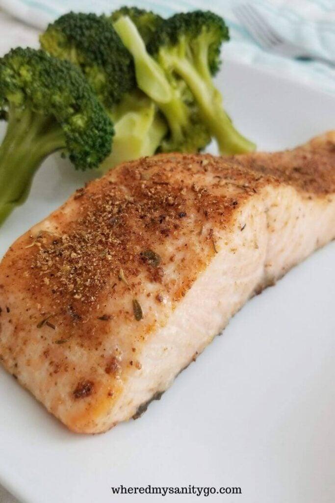 Easy Air Fryer Blackened Salmon