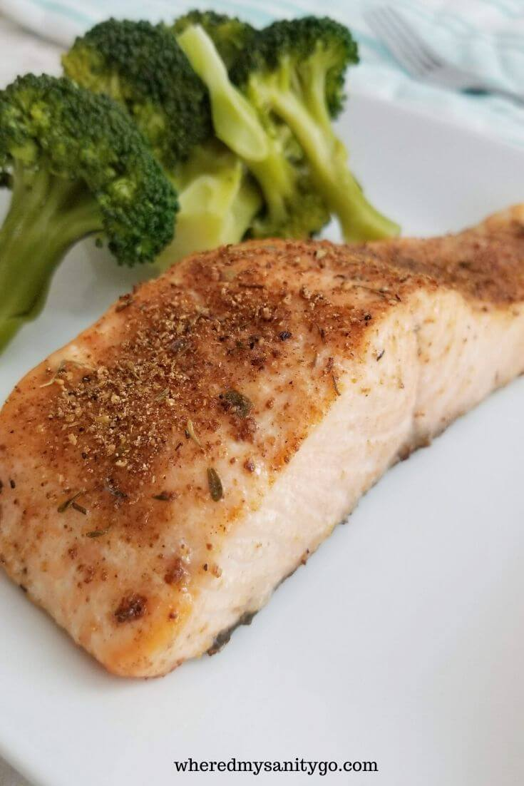 Easy Air Fryer Blackened Salmon
