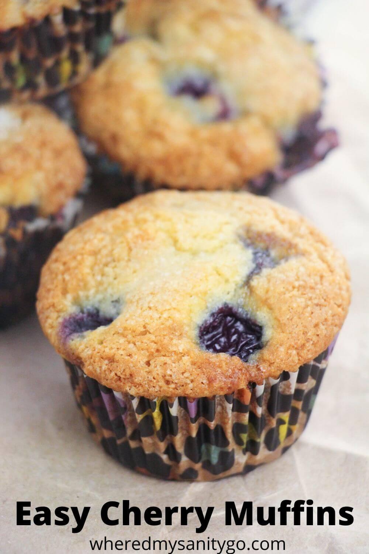 Easy Cherry Muffins