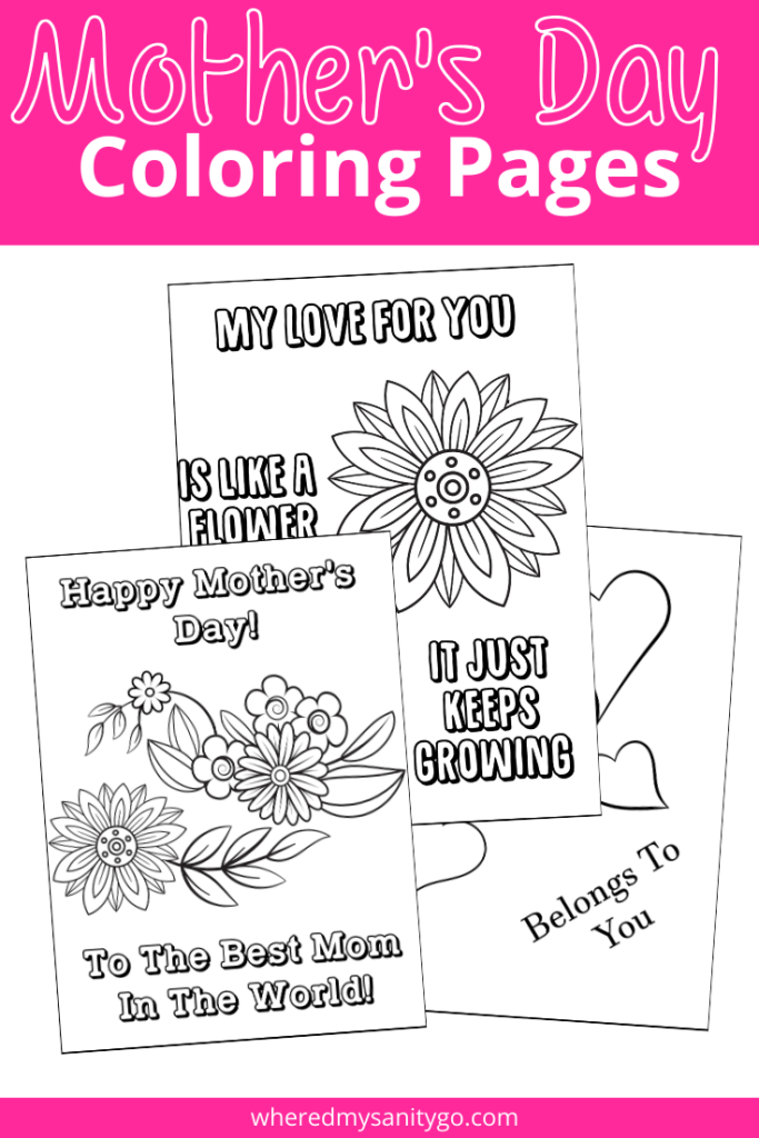 - Mother's Day Coloring Pages For Kids: A Fun Gift For Mom!