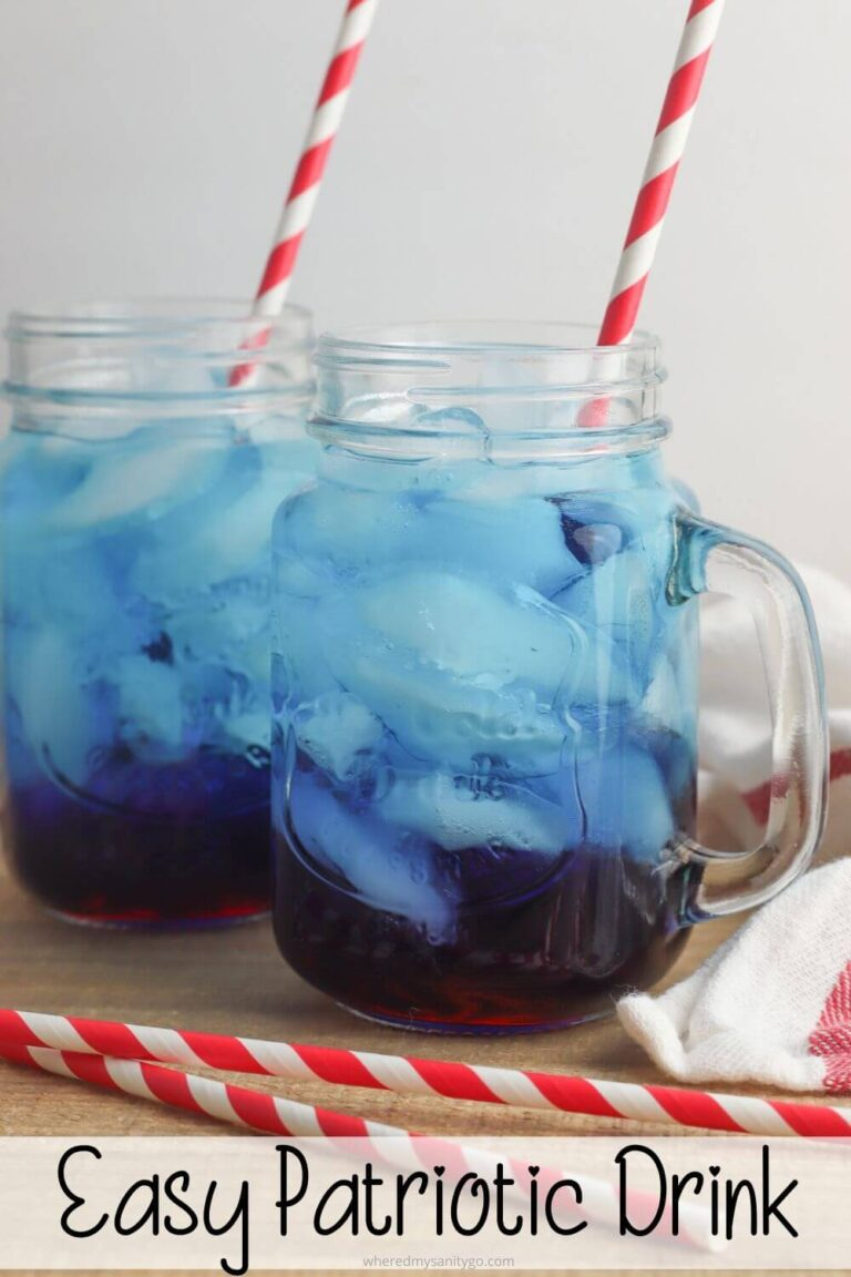 Easy Patriotic Drink for Summer (Red White and Blue 4th of July Punch)
