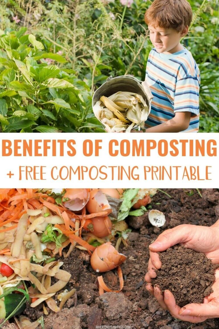 Benefits of Composting and How to Get Your Compost Bin Started + Free Composting Printable