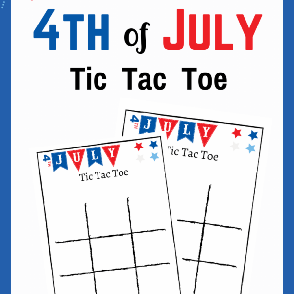 4th of July Game Printable Tic Tac Toe