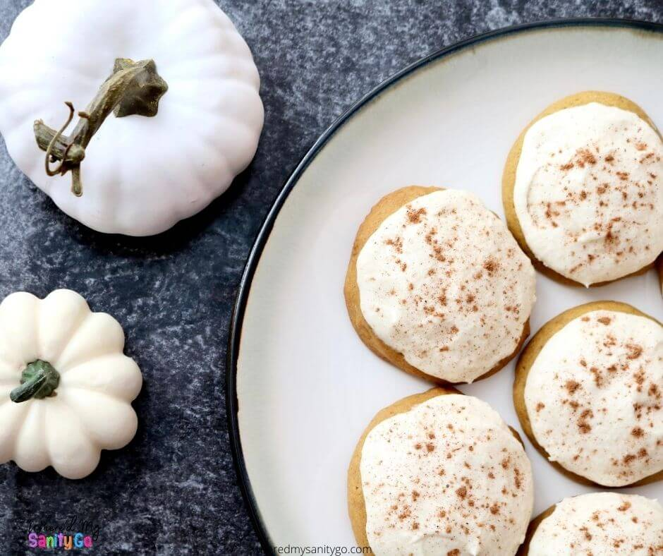 Soft Pumpkin Cookies with Maple Frosting
