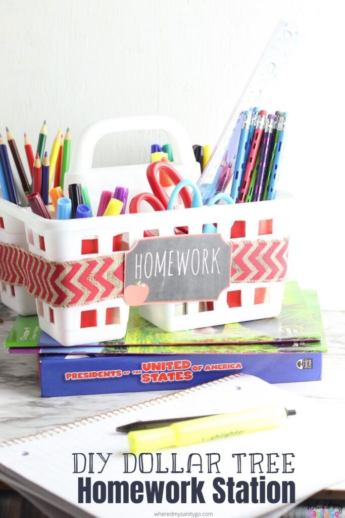 Dollar Tree Homework Station