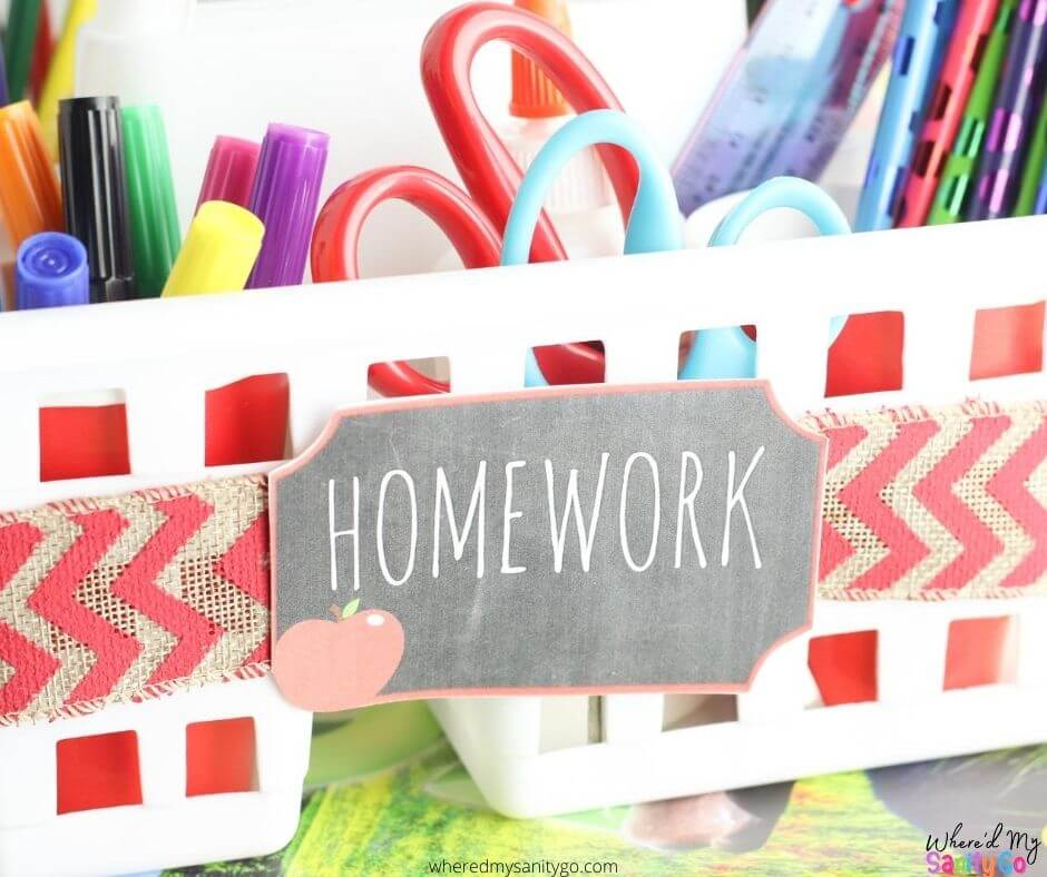 Dollar Tree School Supply Organization DIY