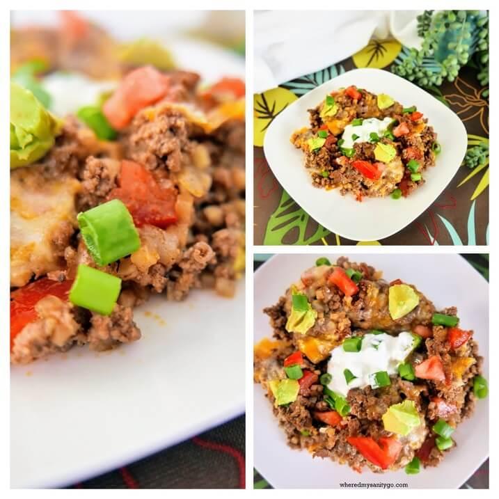 Quick Keto Taco Casserole - A Delicious Keto Skillet Recipe and Keto Mexican Dish