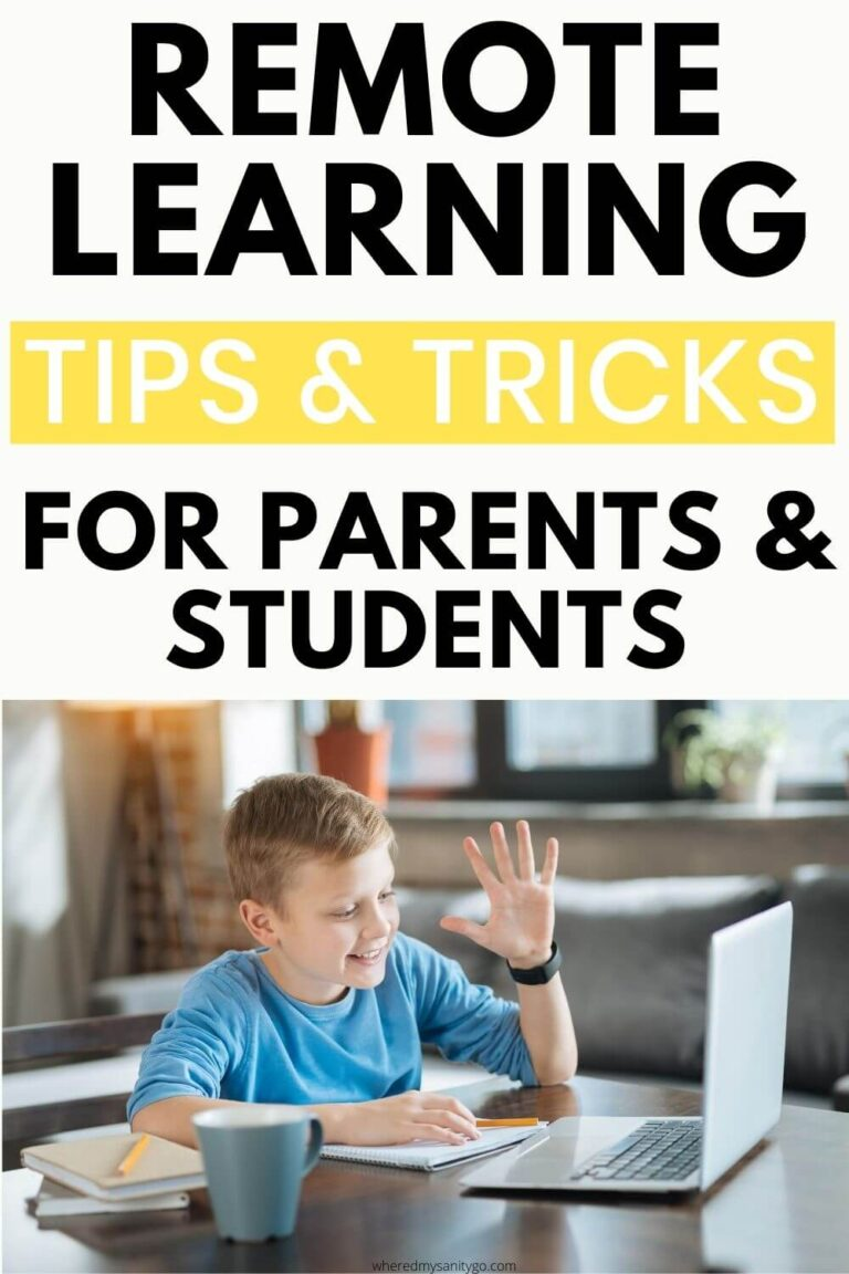 Remote Learning Resources and Tips for Parents + Remote Learning Tools
