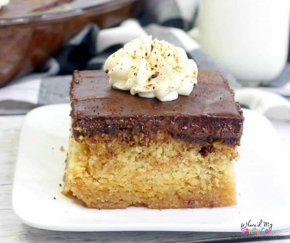 Coffee Caramel Poke Cake