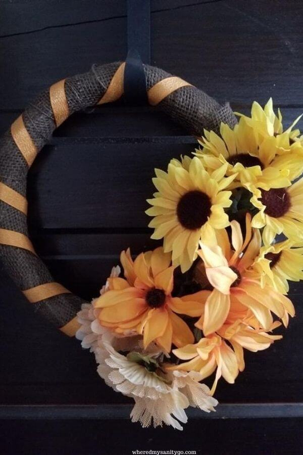 Dollar Tree Fall Wreath Tutorial DIY Fall Decor