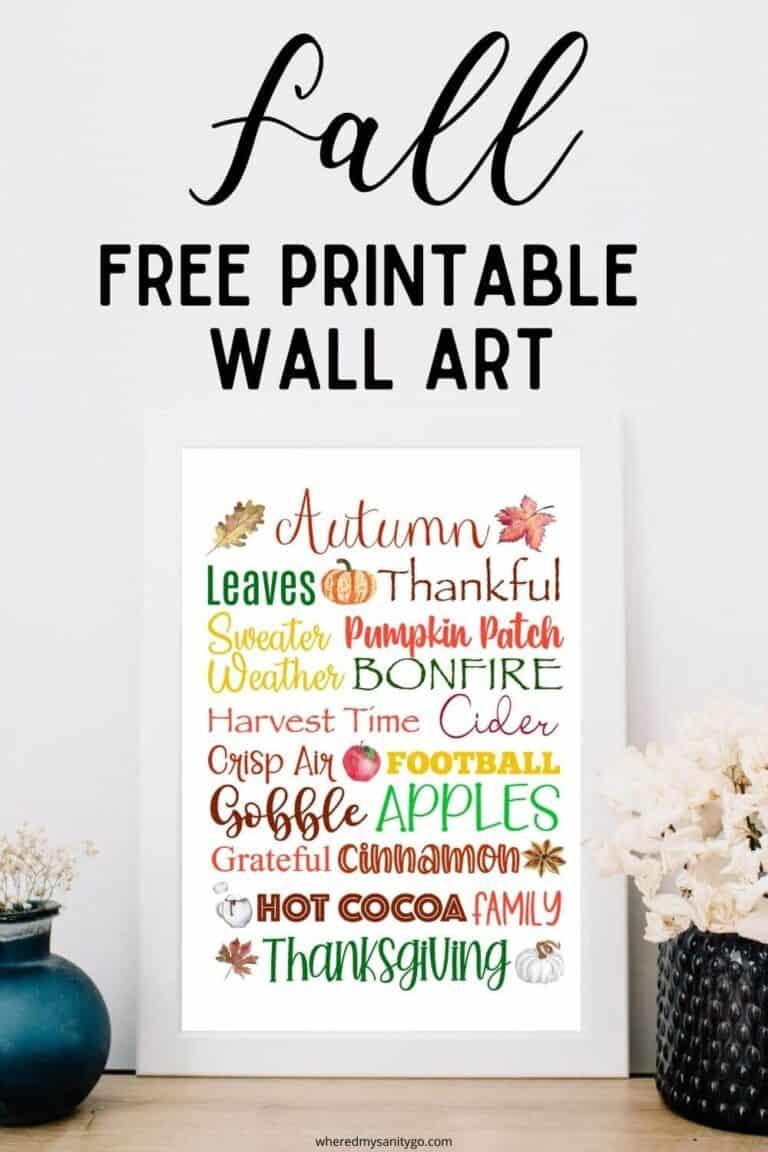 Fall Free Printable Wall Art Cute Farmhouse Printable Sign