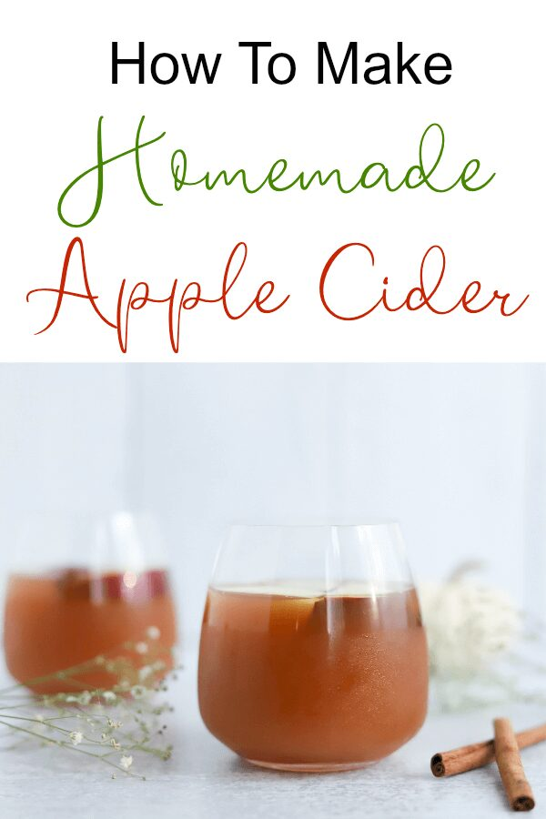 How To Make Homemade Apple Cider Recipe for Fall