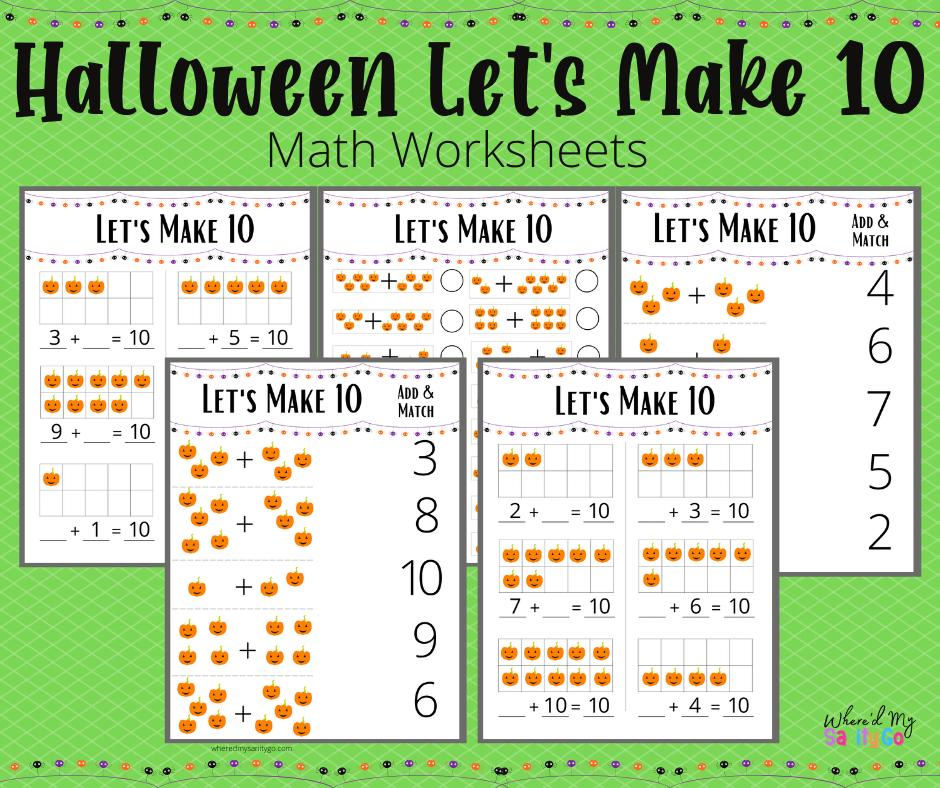 Halloween Making 10 Worksheets Free Preschool Math Activity