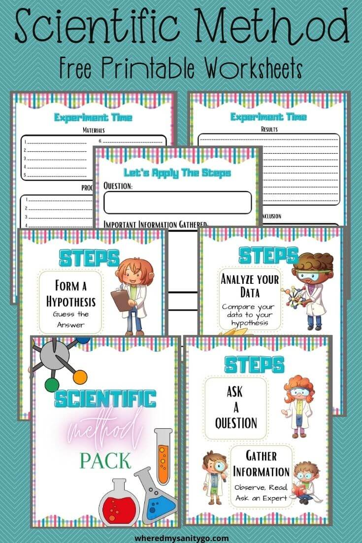 Scientific Method Printable Worksheets with Scientific Method Steps