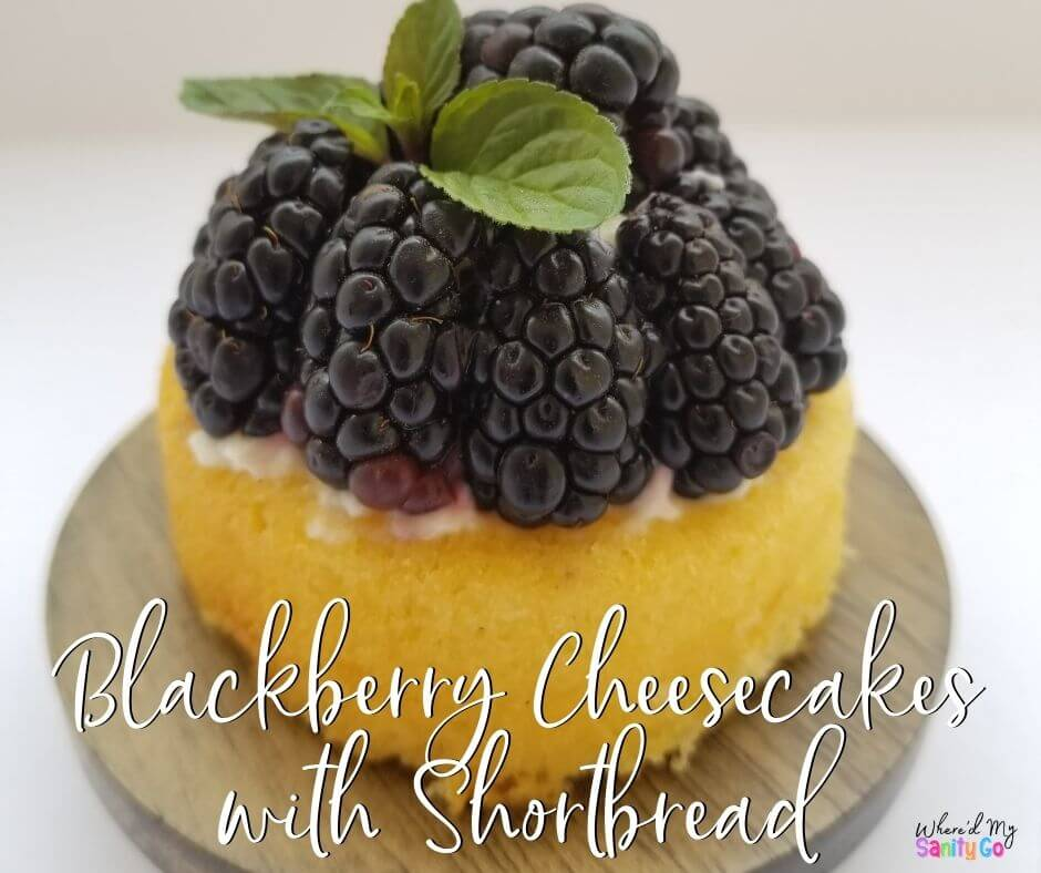 Blackberry Cheesecakes with Shortbread