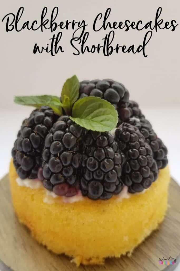 Blackberry Cheesecake Recipe with Shortcake