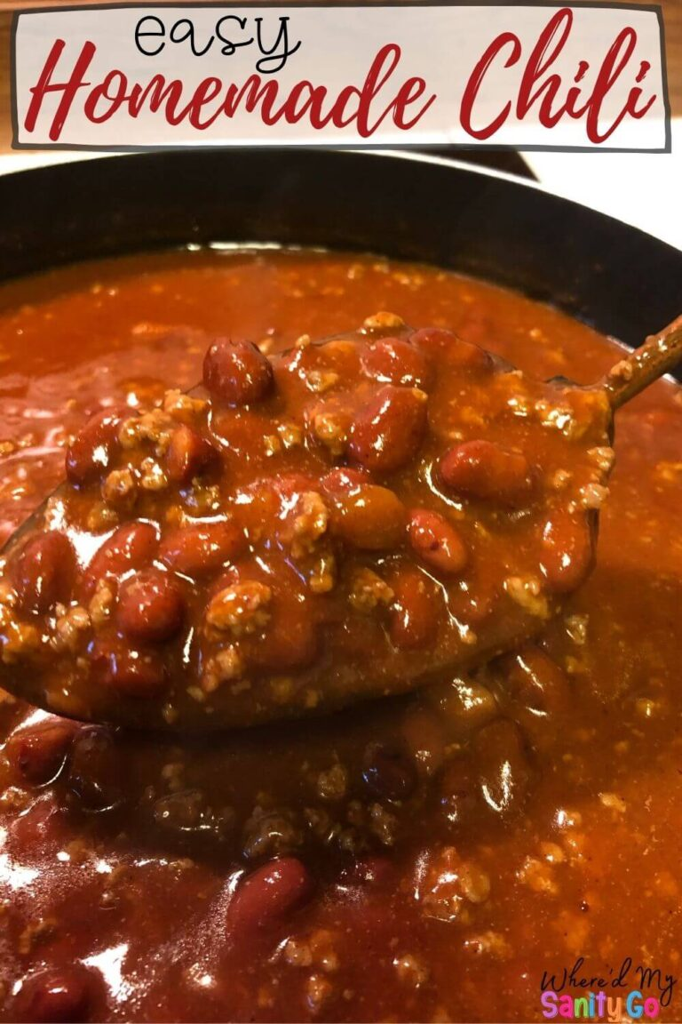 Easy Chili Recipe That Is Quick and Delicious (Stove Top or Slow Cooker)