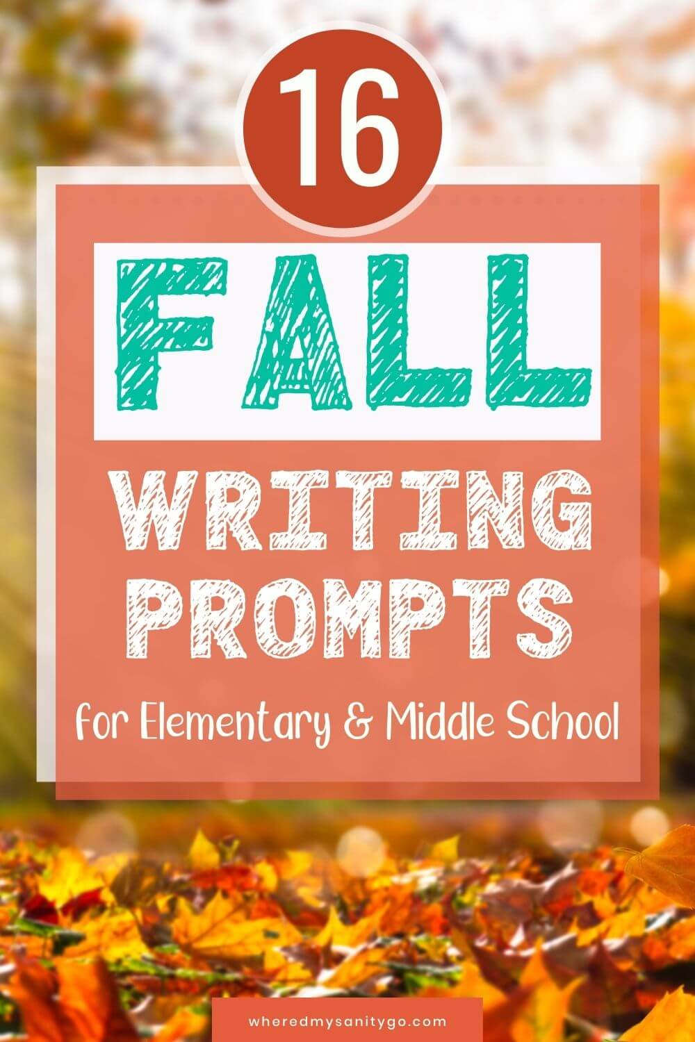 Fall Writing Prompts for Kids in Elementary and Middle School