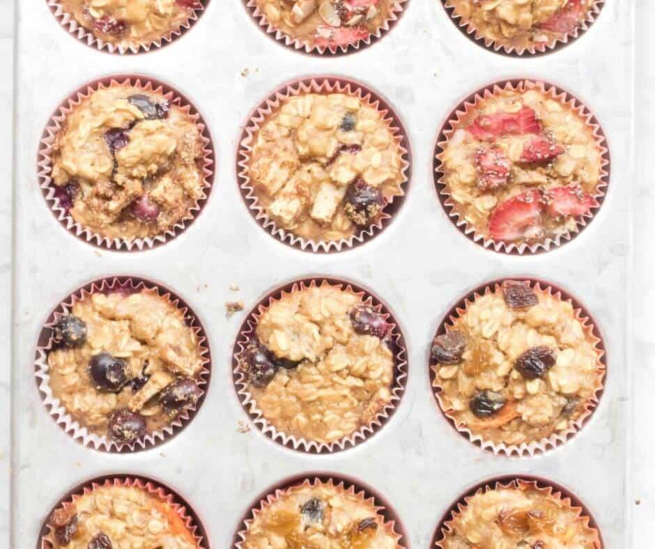 Healthy Toddler Banana Oat Muffins