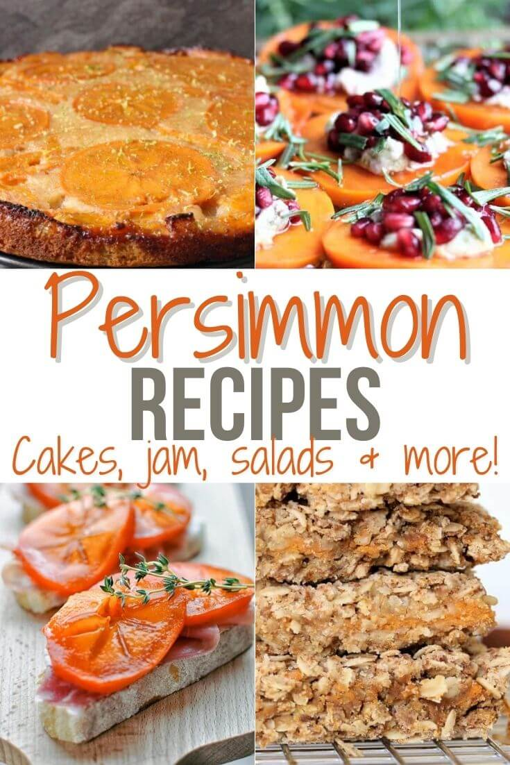Persimmon Recipes: cakes, jam, salads