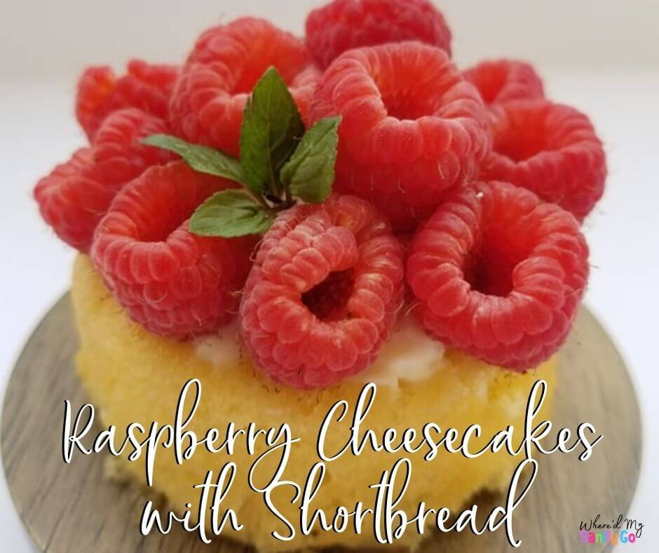 Raspberry Cheesecakes with Shortbread
