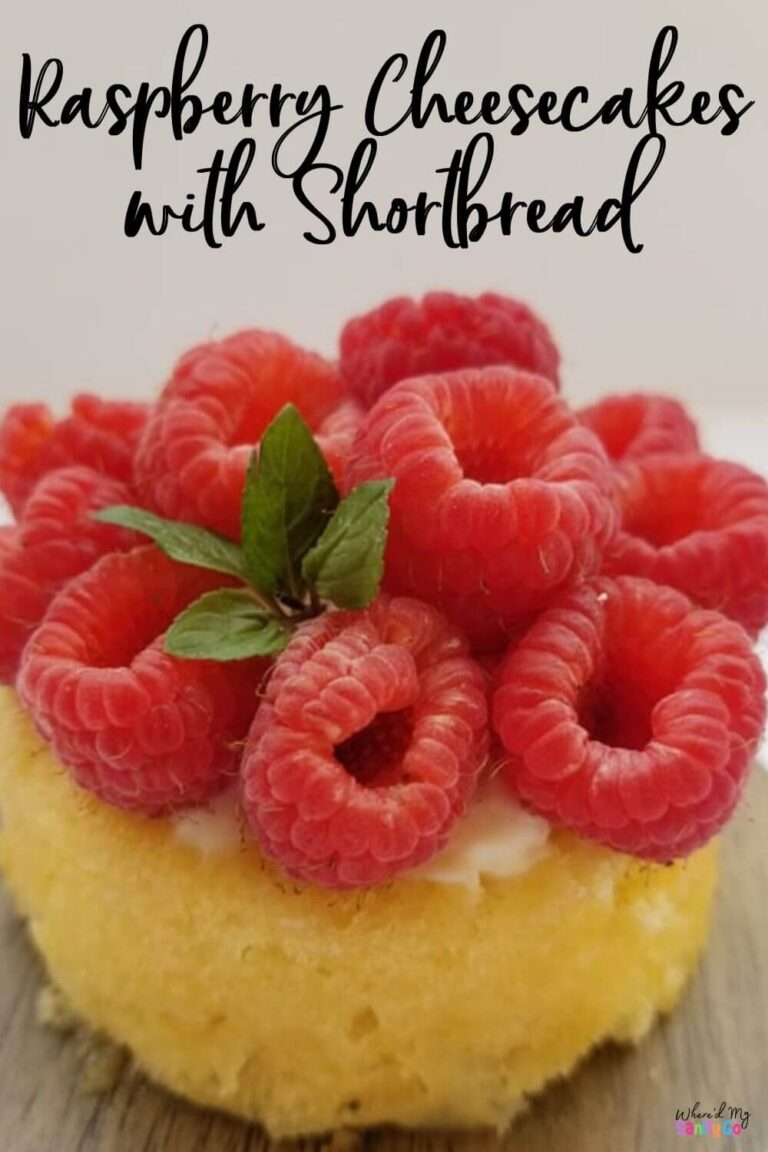 Raspberry Cheesecake Recipe with Shortcake + Blackberry Cheesecakes