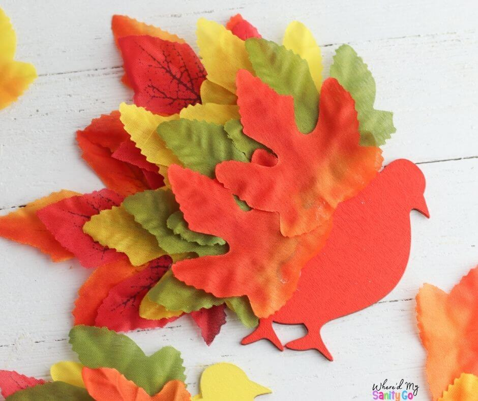 Turkey Leaf Art Craft for Kids