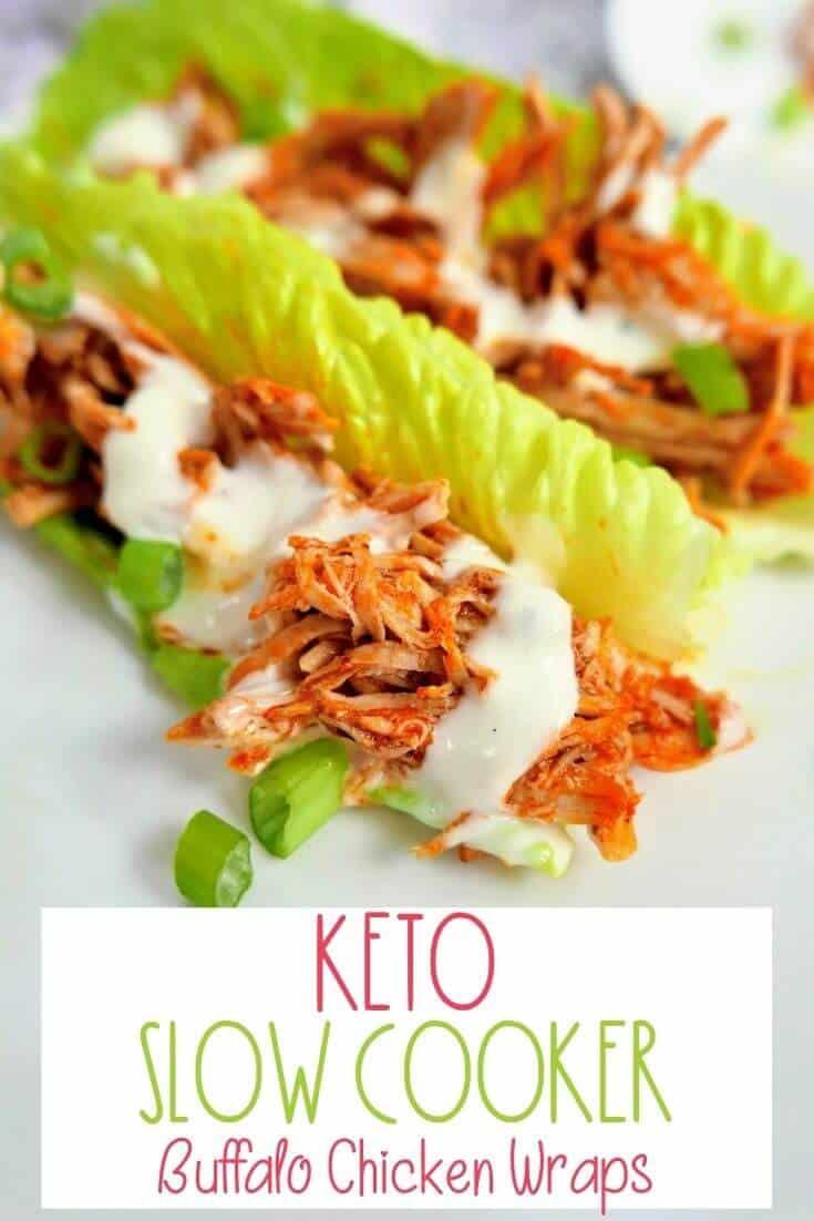 Slow Cooker Buffalo Chicken Lettuce Wraps Keto Buffalo Chicken