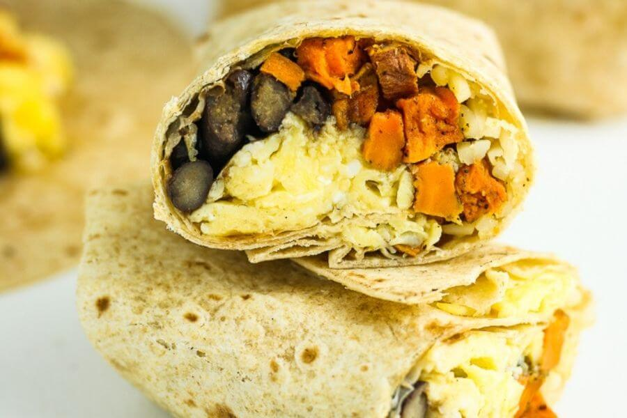 Sweet Potato Breakfast Burritos