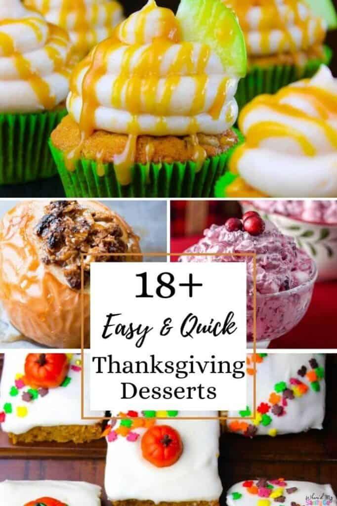 18+ Easy Thanksgiving Desserts